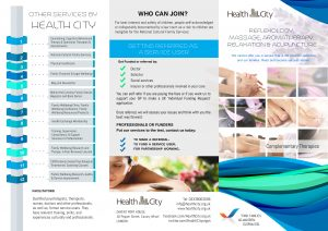 complementary Therapy  Brochure Front 22.05.2016